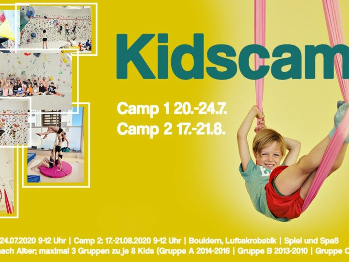 Bouldern Kidscamp JULI & AUGUST